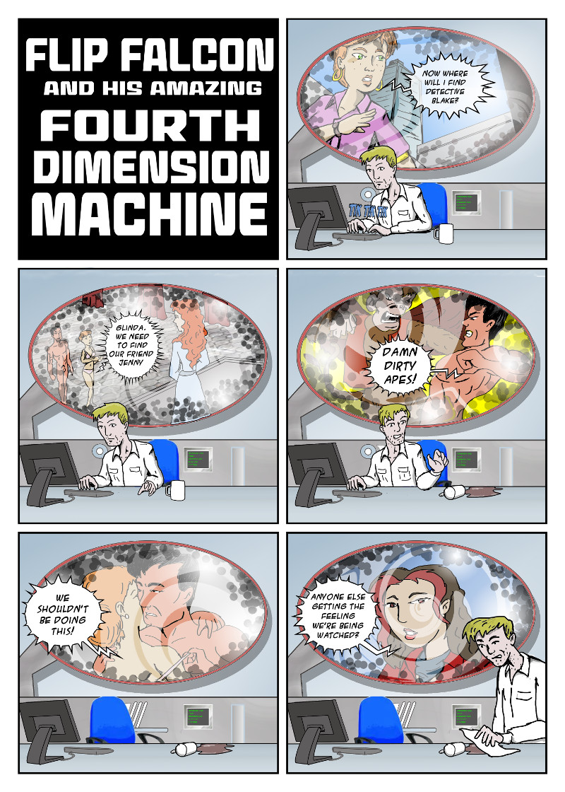FLIP FALCON AND HIS AMAZING 4TH DIMENSION MACHINE